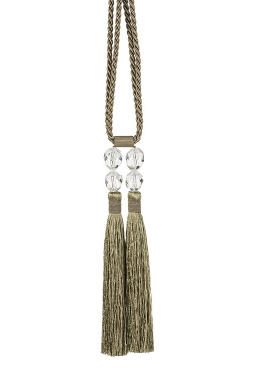 Brown,golden tassel