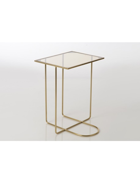 Golden landing table with glass roof