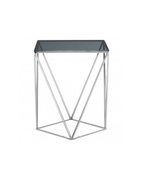 Silver landing table with glass roof