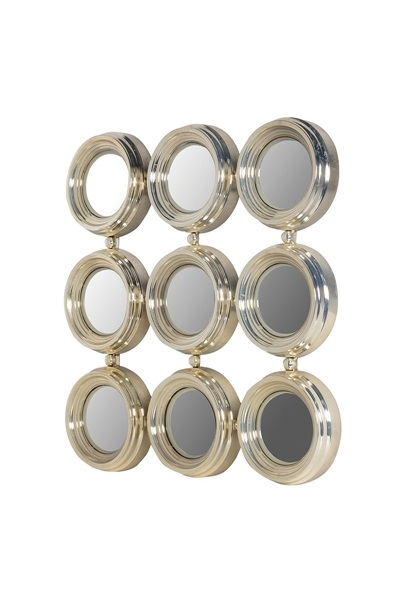 Champagne,golden wall round mirror