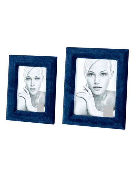 Blue velvet photo frame