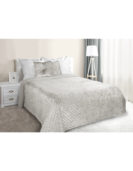 Clear grey shiny bedspread