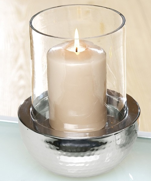 Candle holder in two piece
