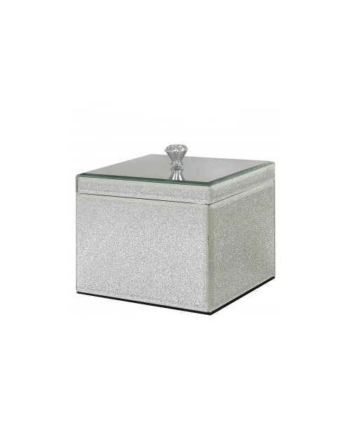Silver jewellery box with crystal design