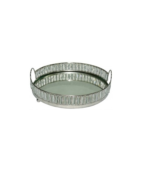 Chain link round mirror tray