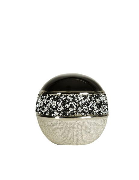 Black and silver decorative ball