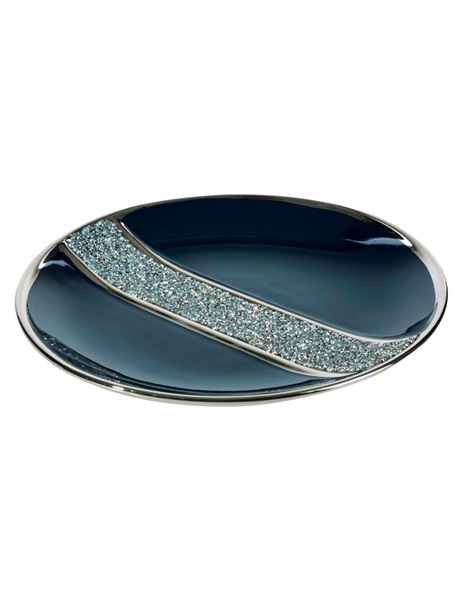 Blue bowl with crystal design