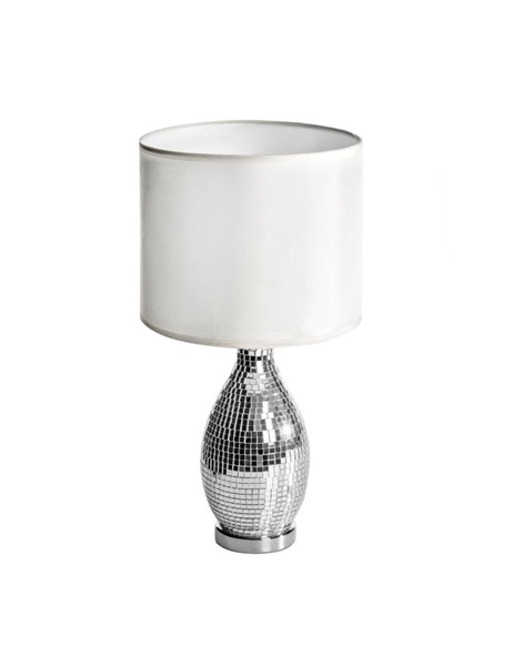 White table lamp with mosaic design