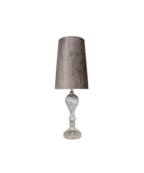 Artdeco table lamp with glass design