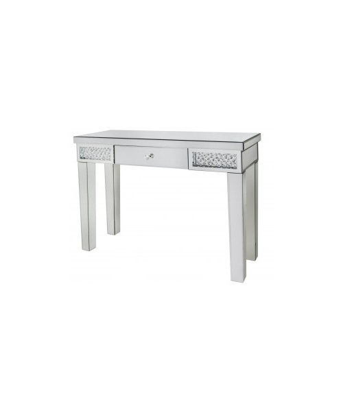 Mirorr console table with crystal design
