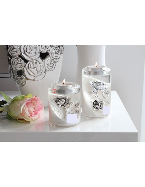Ball candle holder with flower design