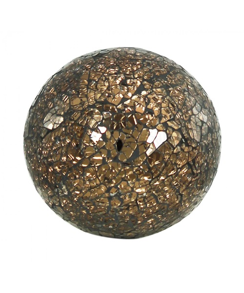 Bronze,brown mosaic ball