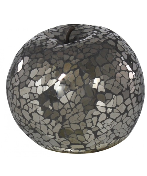Black,chrome mosaic apple