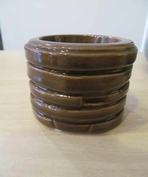 Brown candle holder