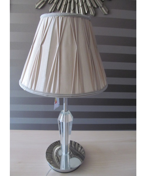 Beige,chrome table lamp