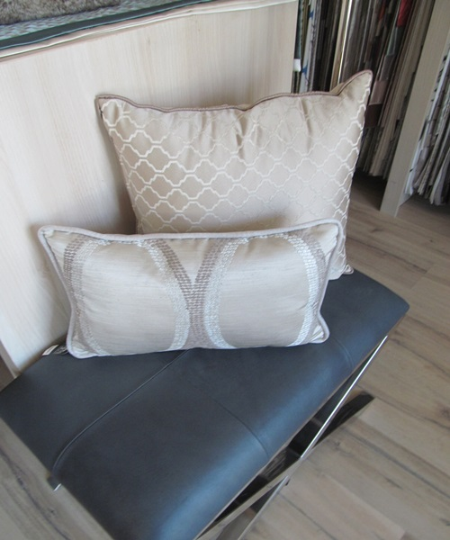 Beige,grey cushions