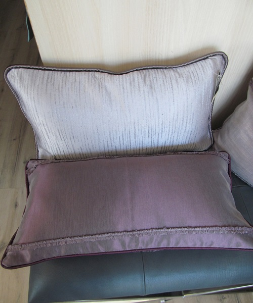 Purple cushions