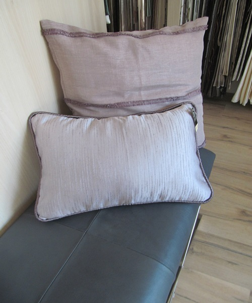 Clear purple cushions