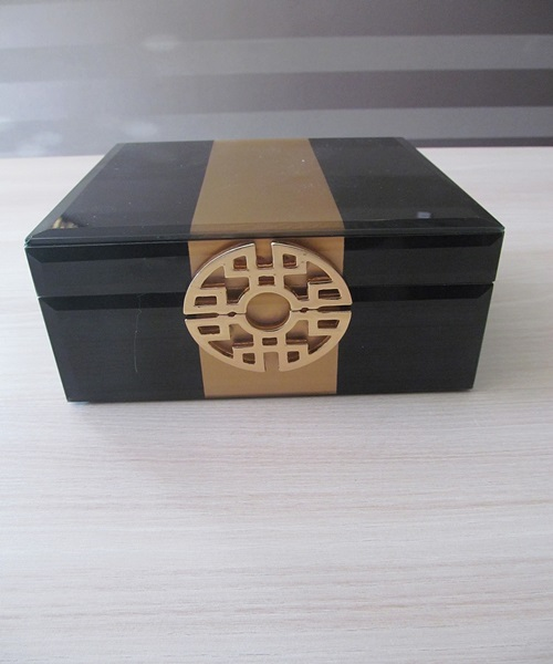 Black,golden jewellery box