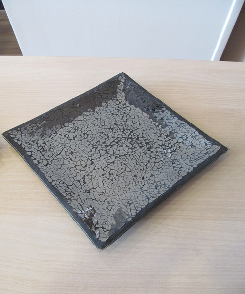 Black mosaic square bowl