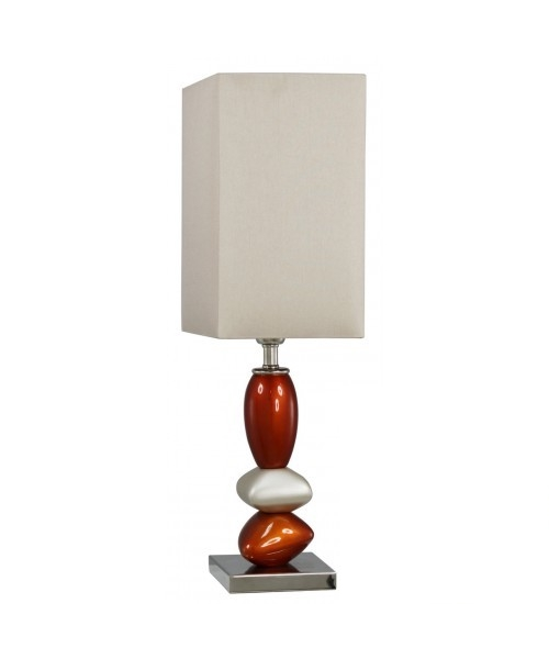 Beige,orange lamp with pebble design
