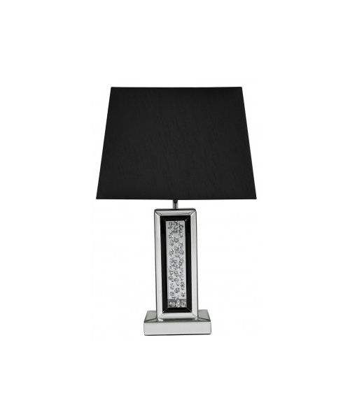 Black table lamp with crystal design