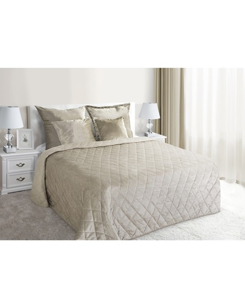 Beige and brown color bedspread