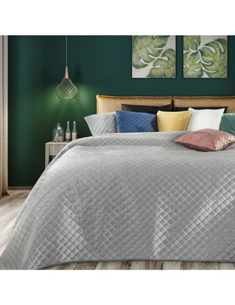 Grey color bedspread