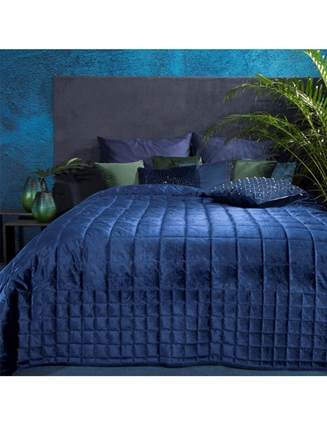 Dark blue color bedspread