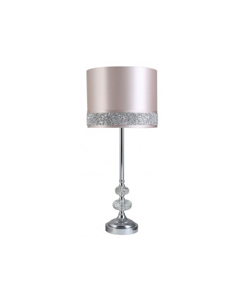 Pink table lamp with crystal design
