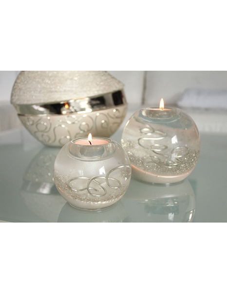 Champagne glass ball candle holder